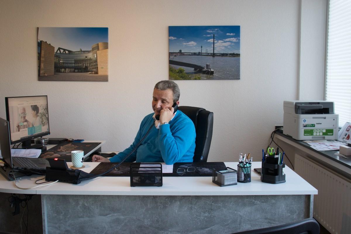 Michael Weinsberg bei der Arbeit